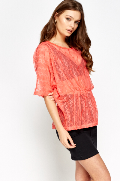 Batwing Sheer Cover Up