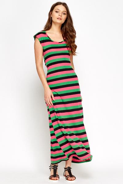 c55ad92867c Two Tone Striped Maxi Dress - Just £5