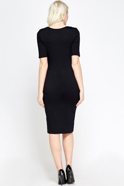 Black Jersey Bodycon Dress
