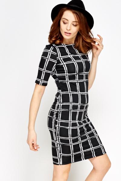 37dba85011d89 Grid Check Print Dress - Just £5