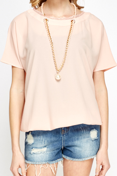 Necklace Detail Top