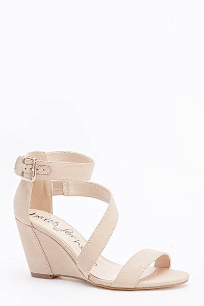 ebd0883e1119 Nude Strappy Wedge Sandals - Just £5
