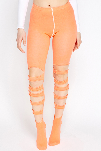 Image of Cut Out Tights