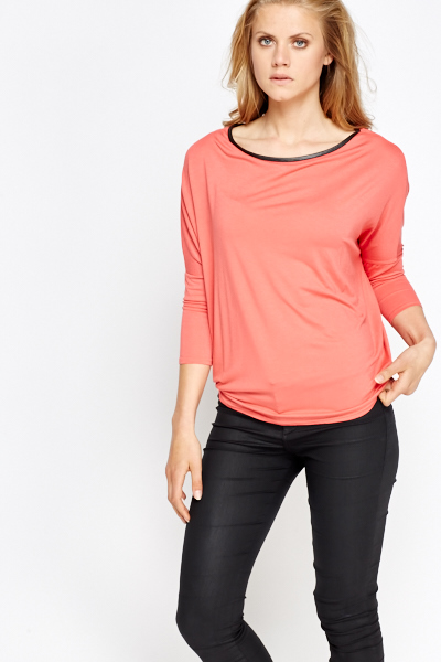 Casual Wrap Back Top