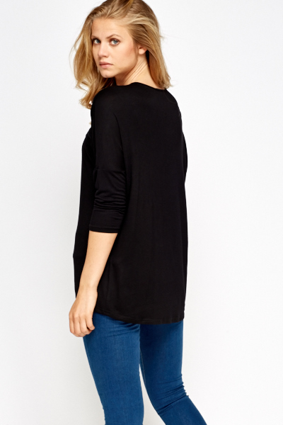 Pocket Front Black Top