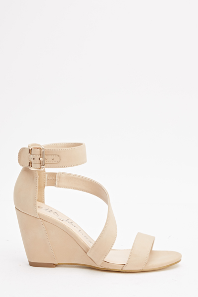 7e10ed368be2 Strappy Nude Wedge Sandals - Just £5