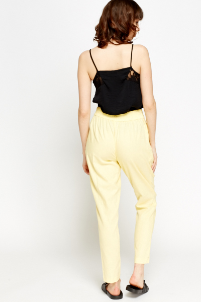 Yellow Elasticated Trousers