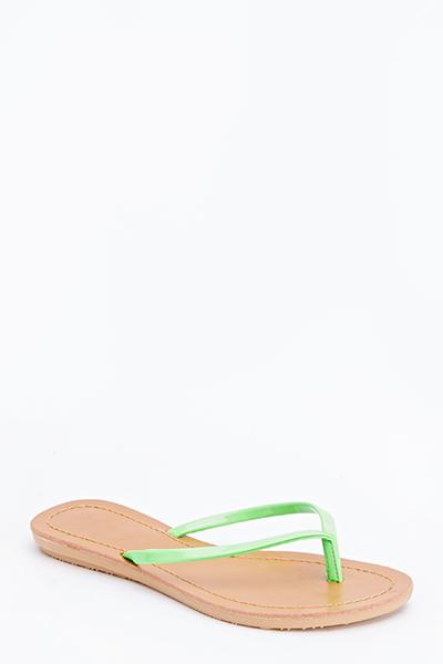 Pu Strap Flip Flops - Just 5-8202