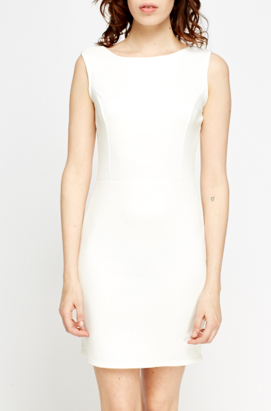 Off White Mini Bodycon Dress
