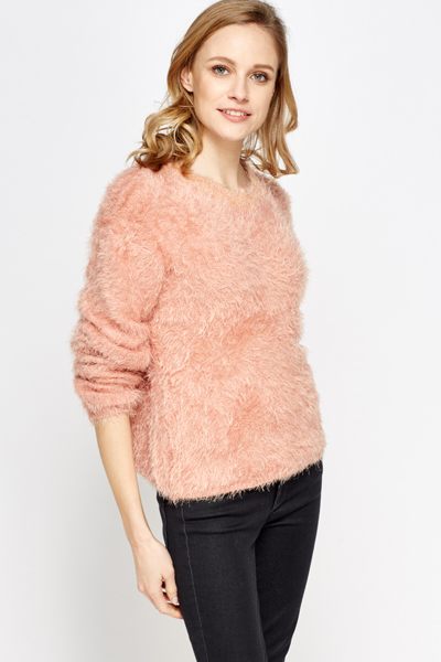 Fluffy Round Neck Jumper