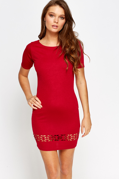 Cut Out Border Mini Dress