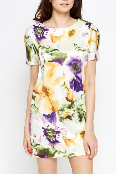 Large Floral Shift Dress