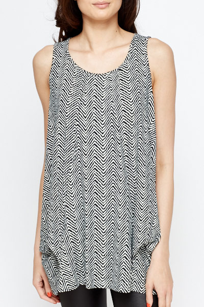 Pleated Side A-Line Top