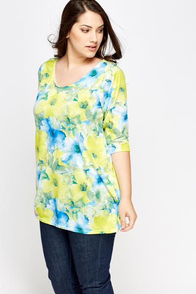 Yellow Multi Floral Top