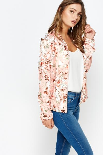 Floral Print Bomber Jacket Just 163 5