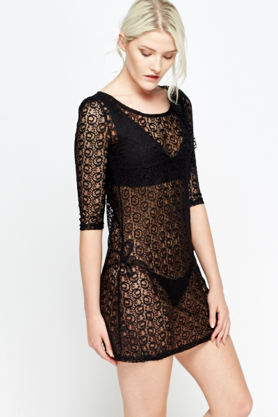 Lace Cover Up Dress