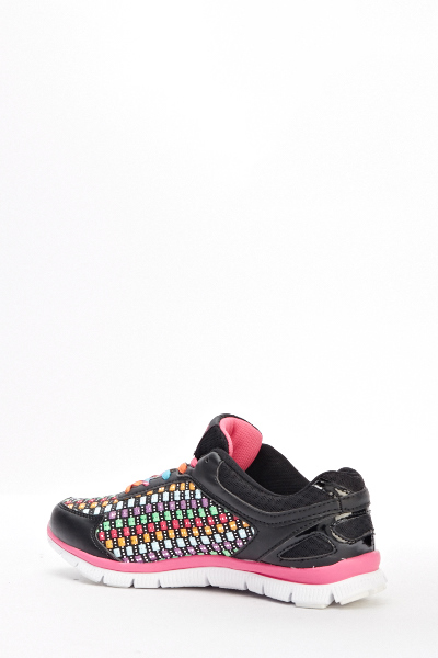 Contrast Multi Coloured Sport Trainers