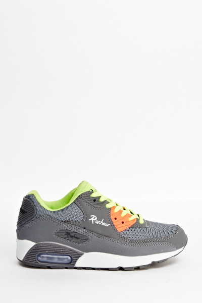 Contrast Multi Grey Trainers