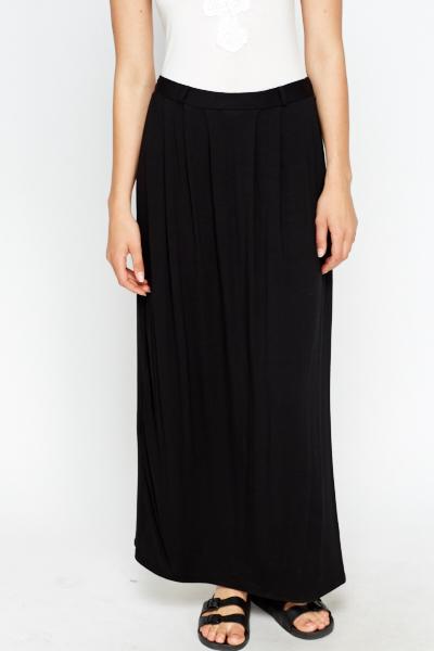 Black Basic Maxi Skirt - Just £5