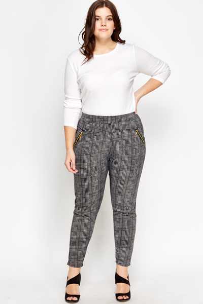 Houndstooth Checked Houndstooth Waisted Houndstooth Checked Checked Trousers High Waisted Trousers High D2WHIYeE9