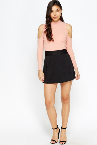 Pocket Detail Mini Skirt