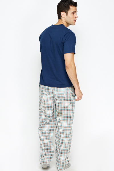 Check Grid Light Weight Pyjamas