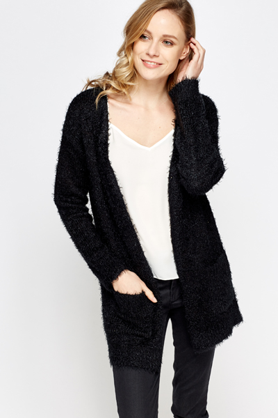 Fluffy Knitted Cardigan