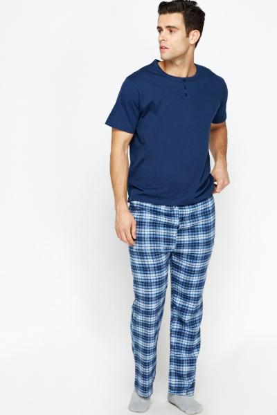 Multi Checked Pyjama Bottoms
