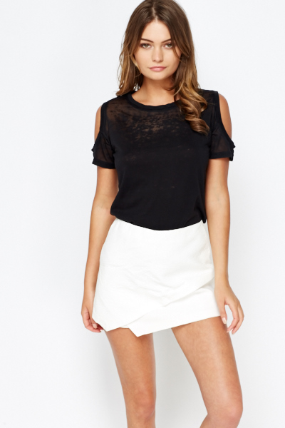 d0a27a7b854 Black Cold Shoulder Top - Just £5