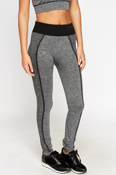 Printed Trim Sport Leggings