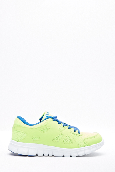 Contrast Neon Trainers
