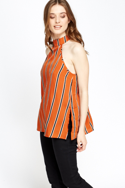 Burnt Orange Halterneck Top