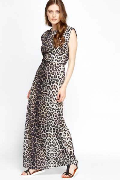 Leopard Print Maxi Dress - Just £5