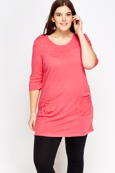 Open Pocket Front Tunic