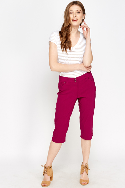 Petite Cropped Trousers