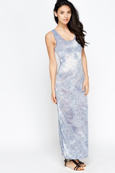 d2710ce08e Tie Dye Blue Maxi Dress - Just £5
