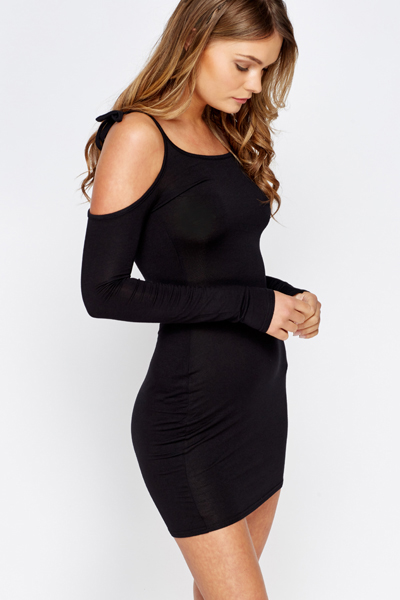 Cold Shoulder Mini Bodycon Dress