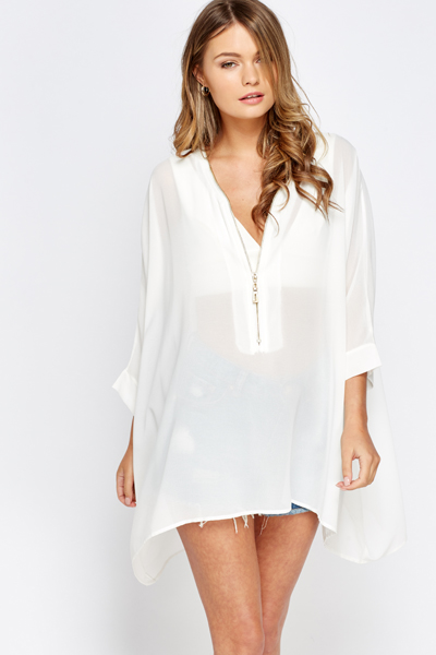 Zip Front Beach Cover Up
