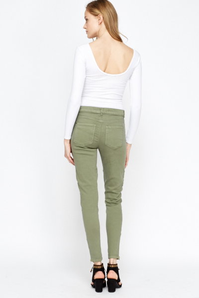Fitted Slim Leg Jeans