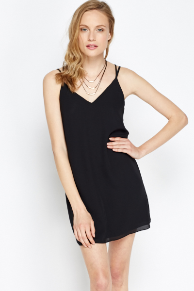 Twin Strappy Shift Dress