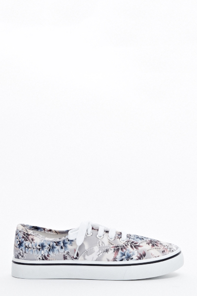 Floral Canvas Trainers