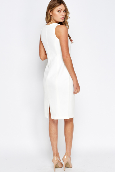 Off White Pencil Dress Just 163 5