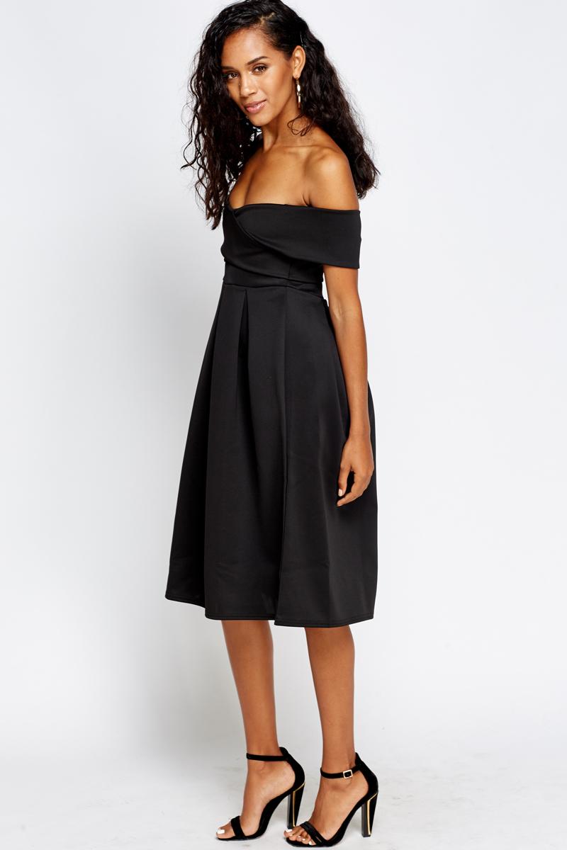 093cee5031 Pleated Bardot Midi Dress - Just £5