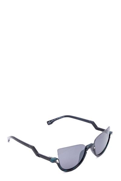 4e2577b45a28c6 Metal Half Frame Sunglasses - Just £5