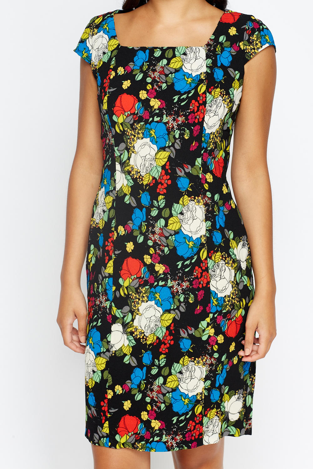 Rent Blue Floral Throw Shift Dress by Slate & Willow for $30 - $40 only at Rent the Runway.