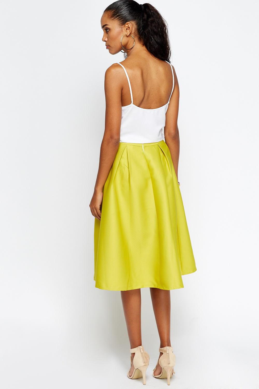 pleated high waist midi skirt just 163 5