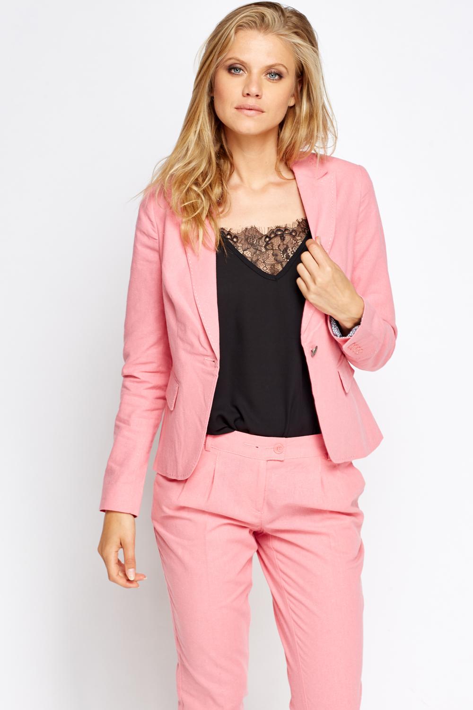 Blazers For Men Pinterest: Pink Fitted Blazer