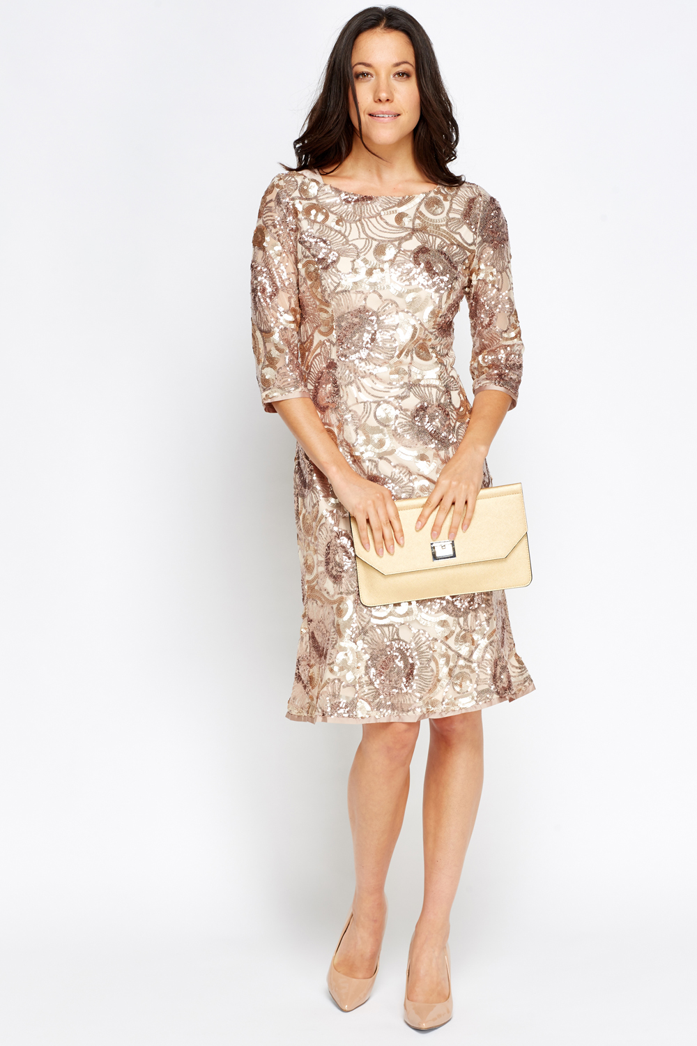 e2eee3b3 Sequin Embellished Midi Dress - Just £5