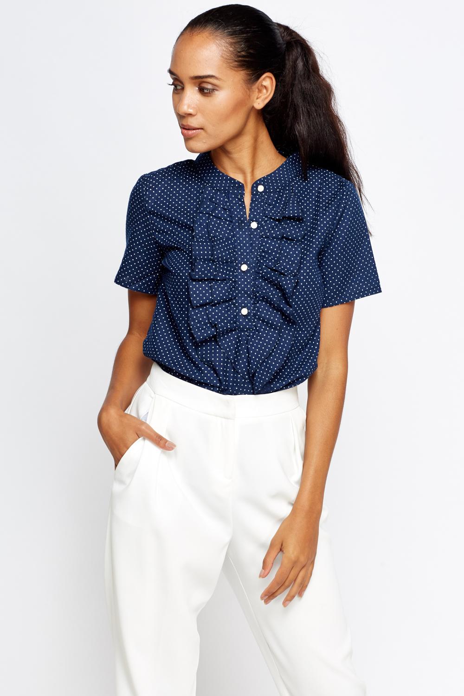 Fantastic Womens Ruffle Shirt Blouse Top Green White Stripes S-L | EBay