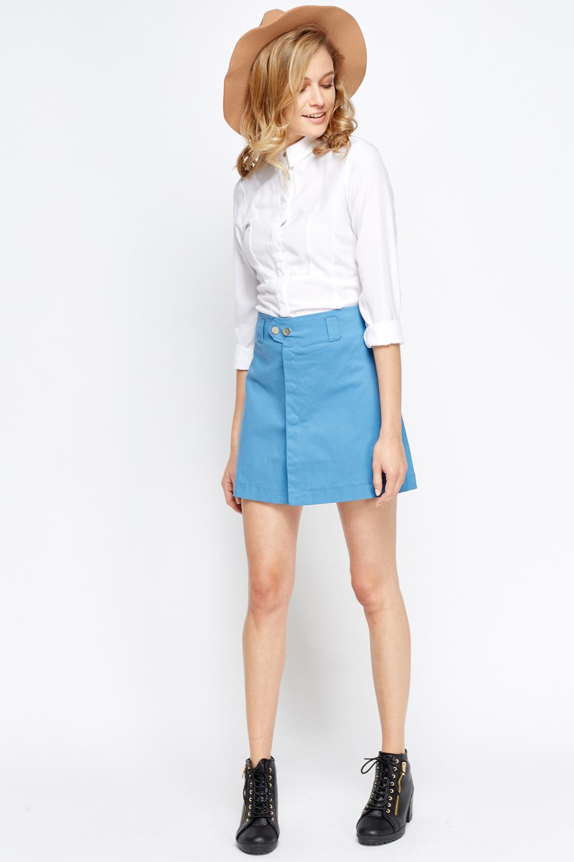 06955e28833f5a Cotton Mini Button Skirt - Just £5